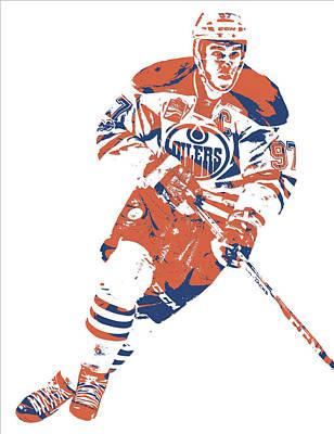 Mixed Media - Connor Mcdavid Edmonton Oilers Pixel Art 6 by Joe Hamilton