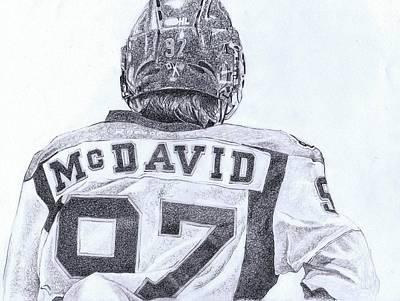Edmonton Oilers Drawing - Connor Mcdavid by Paul Smutylo