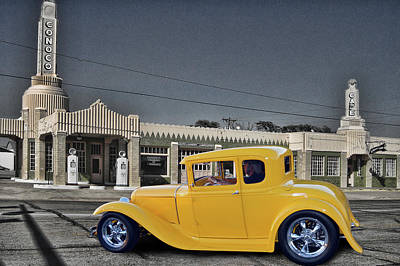 Photograph - Conoco Coupe by Bill Dutting
