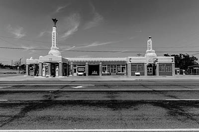 Photograph - Conoco Tower Gas Station by Mark Hamilton
