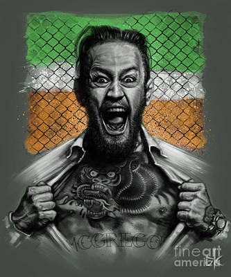 Conor Drawing - Conor Mcgregor by Andre Koekemoer