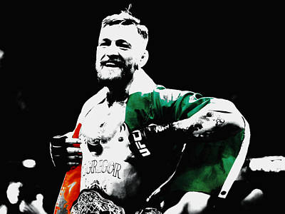 Mixed Media - Conor Mcgregor by Brian Reaves