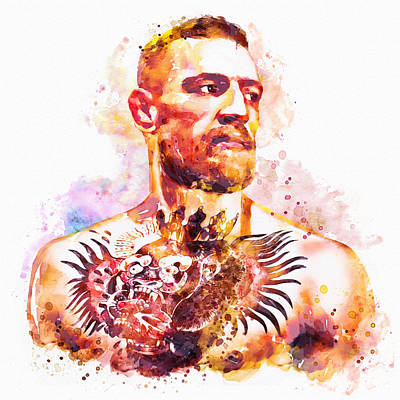 Painted Face Mixed Media - Conor Mcgregor by Marian Voicu