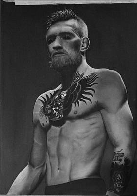 Ufc Drawing - Conor Mcgregor Photorealistic Drawing by Larry Maguire