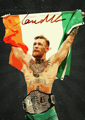 Conor Mcgregor Art Print by Semih Yurdabak
