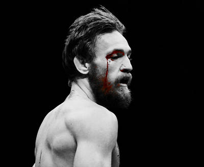 Mixed Media - Conor Mcgregor Taste Of Blood by Brian Reaves