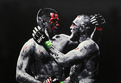 Painting - Conor Mcgregor V Nate Diaz by Geo Thomson