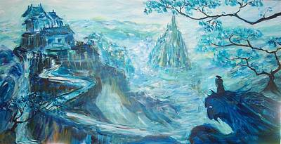 Painting - Conquer Of The Blue Mountain by Mary Sedici