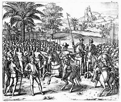 Conquest Of Inca Empire Art Print by Granger