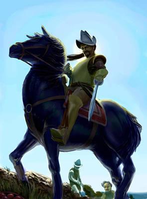Spanish Horses Painting - Conquistador by Nicholas Bockelman