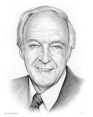 Drawing - Conrad Bain by Greg Joens