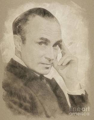 Musicians Drawings Rights Managed Images - Conrad Veidt, Vintage Actor by John Springfield Royalty-Free Image by Esoterica Art Agency