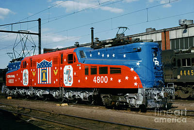 Photograph - Conrail Bicentennial Livery, Gg-1 Electric Locomotive, 4800 Patr by Wernher Krutein