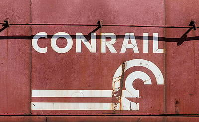 Photograph - Conrail Can Opener Logo by Joseph C Hinson Photography