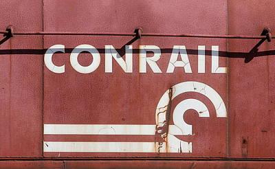 Photograph - Conrail Can Opener Logo by Joseph C Hinson Photography