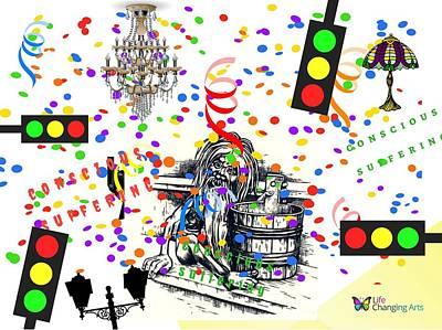 Digital Art - Conscious Suffering II by Steven Brier