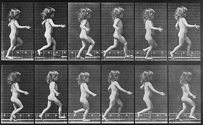 Consecutive Images Of A Little Nude Art Print by Everett