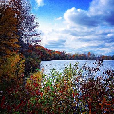 Conservation Park And Pine River In The Fall Art Print