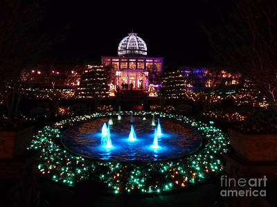 Photograph - Conservatory During Garenfest Of Lights 2017 by Jean Wright
