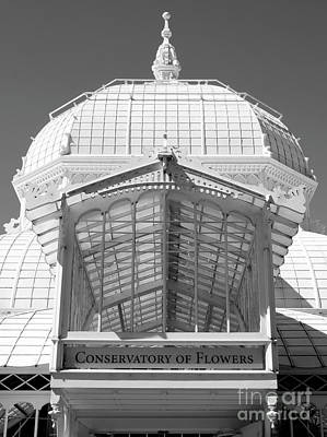 Photograph - Conservatory Entrance In Black And White by Carol Groenen