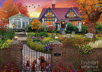 Dogs Digital Art - Conservatory House  by MGL Meiklejohn Graphics Licensing