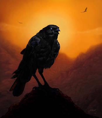 Arizona Artist Jeff Curtis Digital Art - Consider The Ravens by Jephyr