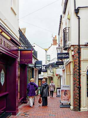 Photograph - Considering A Purchase In Dukes Lane Brighton by Dorothy Berry-Lound
