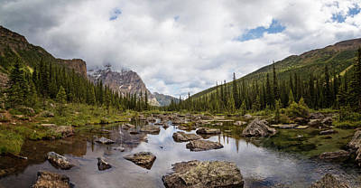 Consolation Photograph - Consolation Lake Banff by Joan Carroll