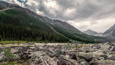 Consolation Lakes And Boulders Art Print by Joan Carroll