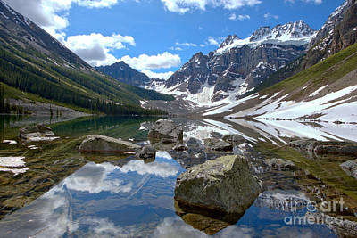 Photograph - Consolation Lakes Reflections by Adam Jewell