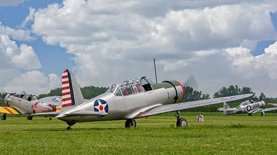 Photograph - Consolidated Vultee Bt-13 by Guy Whiteley