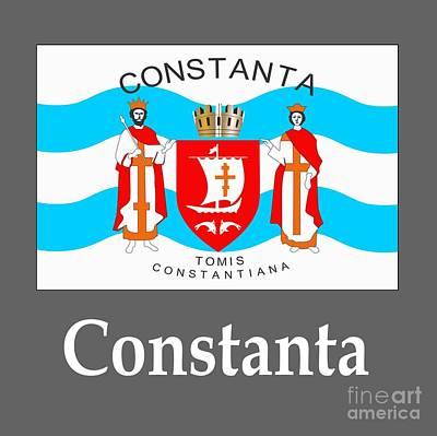 Romania Mixed Media - Constanta, Romania Flag And Name by Frederick Holiday