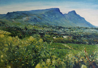 Painting - Constantia Valley Cape Town South Africa 2017 by Enver Larney