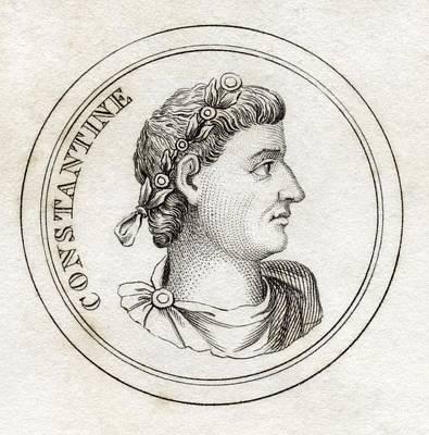 Flavius Drawing - Constantine I Flavius Valerius by Vintage Design Pics