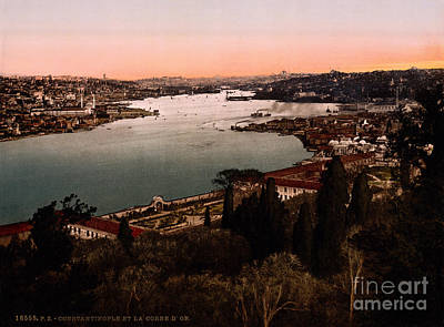 Constantinople Painting - Constantinople And The Golden Horn by Celestial Images