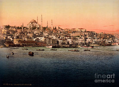Turkey Mixed Media - Constantinople by Celestial Images
