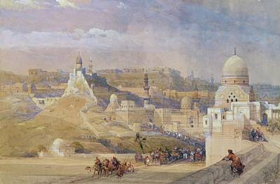 Camels Painting - Constantinople by David Roberts