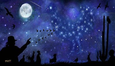 Big Rooster Painting - Constellating by Robert Pratt