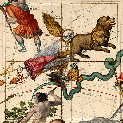 Photograph - Constellation Chart 1693d by Andrew Fare