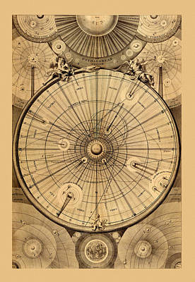 Photograph - Constellation Chart 1834 by Andrew Fare