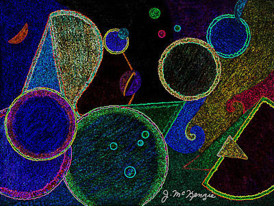 Abstract Digital Drawing - Constellation by Joy McKenzie