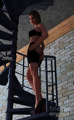 3dart Digital Art - Consternation On The Stairs by William Farrar