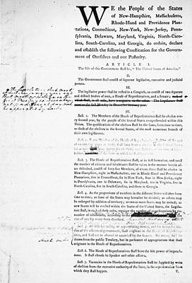 Constitutional Convention Photograph - Constitution: Draft, 1787 by Granger