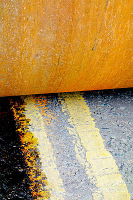 Construction 03 - Hamm Roller On Double Yellow Lines Print by Pete Edmunds