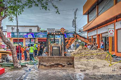 Photograph - Construction Crew by David Zanzinger