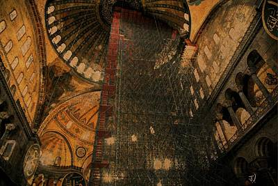 Photograph - Construction - Hagia Sophia by Jim Vance