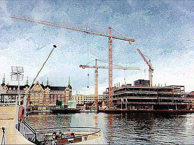 Photograph - Construction In Copenhagen by Dorothy Berry-Lound