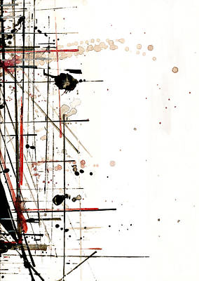 Ink Painting - Construction No. 1 by Nicholas Ely