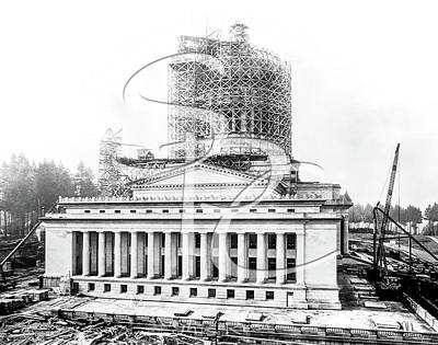 Photograph - Construction Of The Legislative Building 1926 by Joe McKnight
