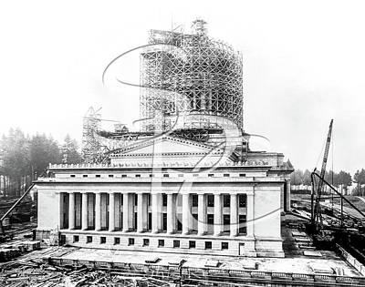 Photograph - Construction Of The Legislative Building 1926 by Joe McKnight